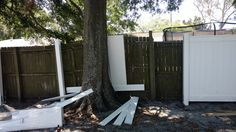 DIY Home Decorations Blog  Any ideas or advice how I can make my vinyl fence work around this tree?  http://ift.tt/2puwL9N