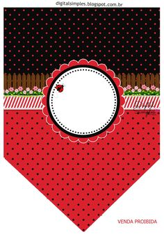 Decoration Ideas, DIYs, Souvenires and Free Printables for your Quinceanera Party. Baby Ladybug, Ladybug Party, Blank Banner, Ladybug Crafts, Bird Party, Bunting Flags, Minnie Mouse Party, Party Printables, Free Printables