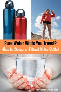 Learn how to choose the right filtered water bottle for you! Whether for sports, travel or survival, you need a filtered water bottle! Travel Water Bottle, Best Water Bottle, Travel Bottles, Water Bottles, Water Filtration Bottle, Packing Tips For Travel, Travel Essentials, Packing Lists, Bucket List Travel