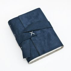 Midnight Blue vegan suede journal by OxtonBooks on Etsy, $32.00