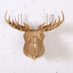 Customized wood Stag head wall decoration,from Guangzhou iWood Crafts Co., Limited on Alibaba.com