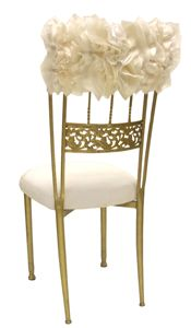 Wildflower Linen - CHAIR COVERS Curly Willow White/Ivory Cap