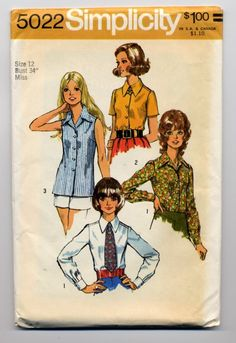 70s Vintage Pattern Misses' and Women's Set of by celebratevintage, $5.00