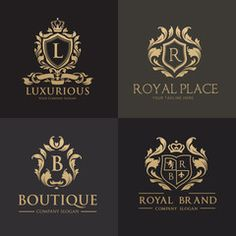 Luxury royal crest logo collection design for hotel and fashion brand identity. - Buy this stock vector and explore similar vectors at Adobe Stock Luxury Logo Design, Branding Design, Logo Luxury, Signage Design, Lawyer Logo, Royal Logo, Crest Logo, Seal Design, Education Logo