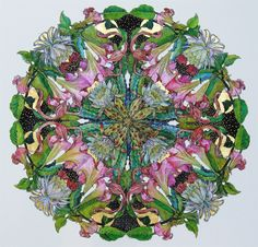 Hand painted silk by Dorte Christjansen