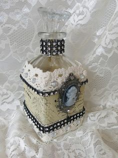 vintage bottle decor