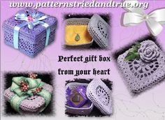 Crochet Gift Box for Mother's Day to hold the Perfect Present Crochet Pattern by Patternstriedandtrue on Etsy