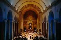 St. Peter Cathedral is one of Marquette's most beautiful indoor venues. Megan & Kevin's wedding. Photo Credit: Caroline's Collective