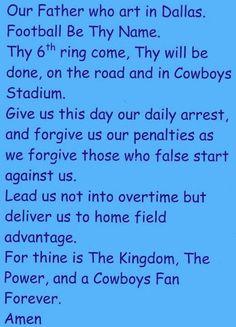 Dallas Cowboys Prayer.