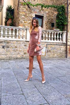 Sensual velvet dress