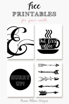 Pretty up your walls with these printable posters. They're free!