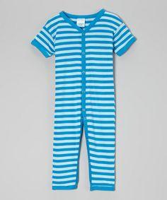 Look at this #zulilyfind! Azure Stripe Playsuit by Luca Charles #zulilyfinds
