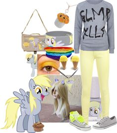 """Derpy Hooves Inspired Outfit~"" by toxickittystudios on Polyvore"