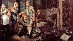 One of William Hogarth's paintings from The Rake's Progress (Credit: Credit: William Hogarth)