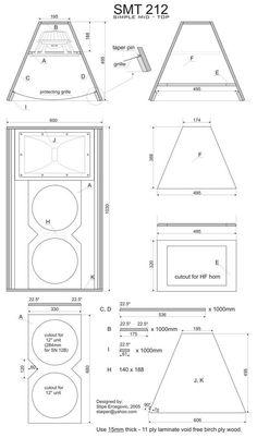 Pin by Greg Burke on Speaker plans in 2019 Top Speakers, Built In Speakers, Audio Speakers, Audio Amplifier, Audiophile, Car Audio, Subwoofer Box Design, Speaker Box Design, Speaker Plans