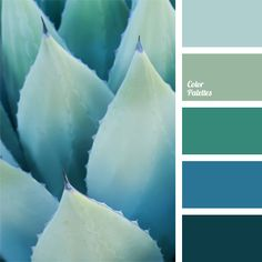 turquoise and cyan palettes with color ideas for decoration your house, wedding, hair or even nails .