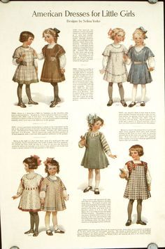 American Dresses for Little Girls | 1910s FASHION - CHILDREN All good for Bleuette