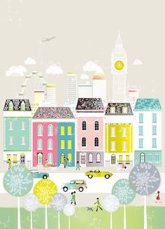 London - Large A3 Print. €25.00, via Etsy.