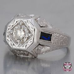 Reminds me of my great grandmothers ring. But with sapphires. Gorgeous