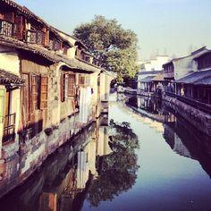 Wuzhen- historic water town in China Hangzhou