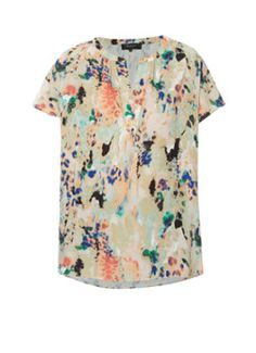 Selected Femme Cathy Evie oversized top met ecolineprint