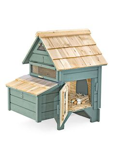 Think small: This cedar-and-plywood chicken coop requires less than nine square feet of yard. ($369)