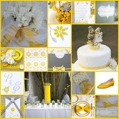Yellow and Gray.  The more I see it the more I like it...but in a more modern way