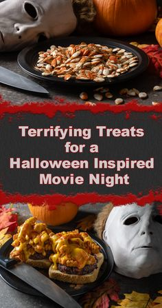 Excited for the home release of Halloween, the Geeks have put together a Halloween Inspired Movie Night guide and discuss the blu-ray's bonus features. Halloween Movie Night, Halloween Horror Movies, Horror Party, Halloween Dinner, Movie Night Snacks, Night Food, Movie Nights, Halloween Appetizers, Halloween Foods