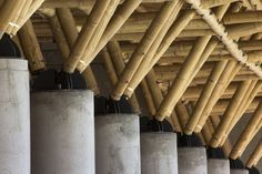 Bamboo trusses. Lesson in Sustainability - Roost In Green