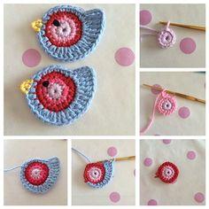 Risultati immagini per pajaritos tejidos al crochet Crochet Birds, Crochet Diy, Easter Crochet, Love Crochet, Crochet Motif, Crochet Flowers, Crochet Patterns, Crochet Hats, Simple Crochet