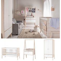Spot 3 Piece Nursery Set in Acacia & White Nursery Furniture Sets, Kids Furniture, Furniture Making, House Beds For Kids, Living Room Decor, Bedroom Decor, Scandinavian Nursery, Traditional Sofa, Classic Sofa