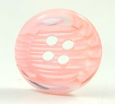 Lovely Plastic Buttons - Translucent Peach Chiffon Color Fringe Plastic Buttons.  0.51 inch. 10 pcs by Lyanwood, $3.00
