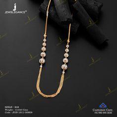 Plain Gold Necklace gms) - Fancy Jewellery for Women by Jewelegance Gold Jewelry Simple, Simple Necklace, Gold Necklace, Gold Chain With Pendant, Gold Pendant, Anklet Jewelry, Bridal Jewelry, Gold Chain Design, Fancy Jewellery