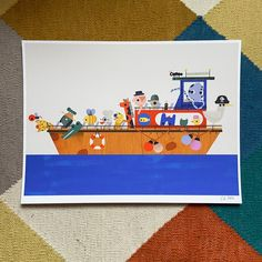Water taxi Giclée print 30 x 40cm   Etsy