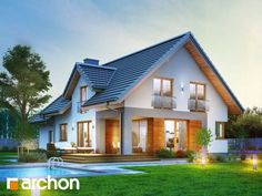Detached house for happy families - Haus - Home Gym New Home Designs, Home Design Plans, Plans Architecture, Architecture Design, Rustic Houses Exterior, Craftsman Houses, Home Fashion, Exterior Design, Future House