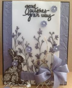 Love how the Stampin' Up! Sheer Perfection Vellum looks on this card.  Receive it free during Sale-a-bration (ends3/31/15) with a $50 order.