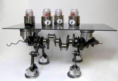 Crank, Rod and Piston Table. #Man #Cave #Garage