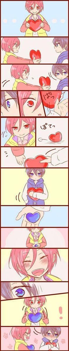 Rin x Haru - This is so fudging CUTE!!