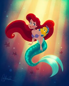 Ariel art. I love this