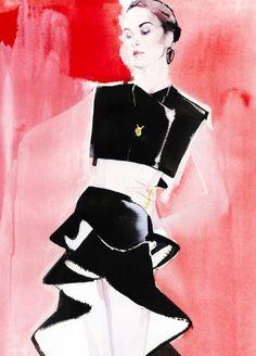 David Downton's illustrations of Michelle Dockery