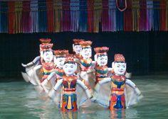 Marionnettes sur l'eau à Hanoi Vietnam #hanoivietnam #hanoi #culturehanoi