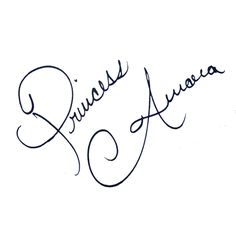 Aurora's signature                                                                                                                                                                                 More