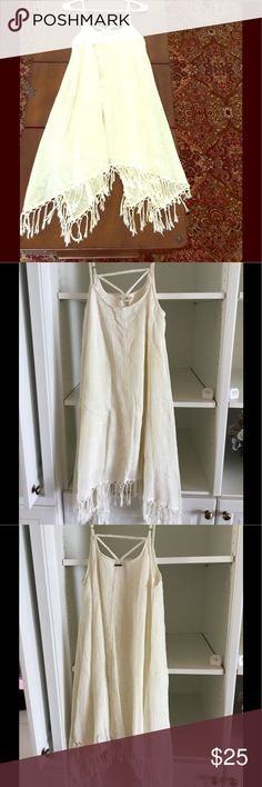 Billabong fringe dress Worn once, no signs of wear. Adjustable straps & lined. Billabong Dresses Asymmetrical