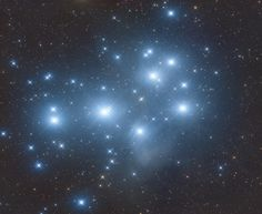 Pleiades, or Seven Sisters, is an open star cluster containing middle-aged, hot B-type stars located in the constellation of Taurus. #astronomy #space #science