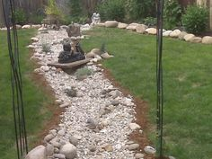pictures of dry creek beds in landscaping | Dry Creek Bed in Cottage garden, I just finished this dry creek bed as ...