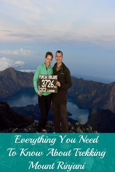 Trekking Mount Rinjani in Lombok, Indonesia - everything you need to know about hiking the second-tallest volcano in Indonesia, just off the coast of Bali.