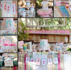 Ribbons and Bows 1st birthday party I did and designed