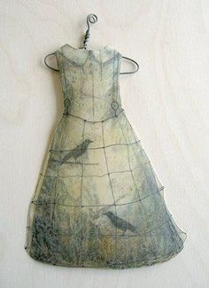 Alicia Tormey, Paper Dress dipped into encaustic medium (bee's wax & resin).