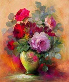 Gary Jenkins Oil Painting of Roses Arte Floral, Gary Jenkins, Painting & Drawing, Watercolor Paintings, Floral Paintings, China Painting, Oil Painting Flowers, Beautiful Paintings, Beautiful Roses