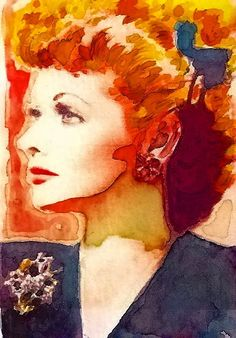 Lucille Ball I Love Lucy Original Signed Print  by CelebrityTimes, $12.95